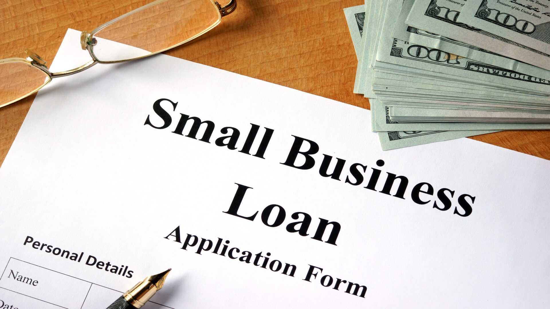 Small business loan form .